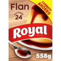 Flan familiar con caramelo ROYAL, 24 raciones, caja 558 g