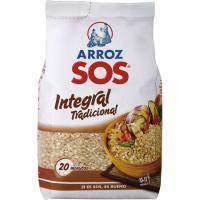 Arroz integral SOS, paquete 1 kg