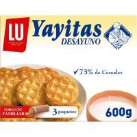 Galleta de desayuno YAYITAS, caja 600 g