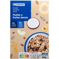 Cereales muesli suizo EROSKI, caja 500 g