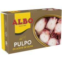 Pulpo en aceite de oliva ALBO, lata 120 g
