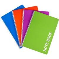 Cuaderno A4 cuadriculado, tapa plástico,80 hojas EROSKI, Pack 4 uds
