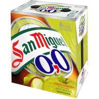 Cerveza sabor manzana 0,0 SAN MIGUEL, pack 6x25 cl