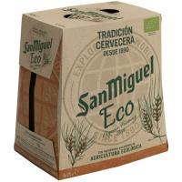 Cerveza ecológica SAN MIGUEL, pack 6x25 cl