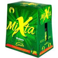 Cerveza sabor limón MAHOU Shandy Mixta, pack 6x25 cl