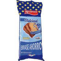 Pan tostado sin sal-azúcar RECONDO, 80 rebanadas, paquete 720 g
