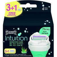 Cargador WILKINSON Intiuition Naturals, pack 3+1 unid.