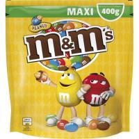 Grageas de cacahuete cubierto de chocolate M&M, bolsa 400 g