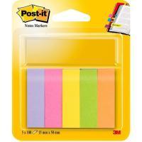 Señalizador o marcador, 5 colores, 15x50mm, 100 hojas por color POST-IT, pack 5uds