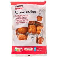 Magdalena cuadrada EROSKI basic, paquete 700 g