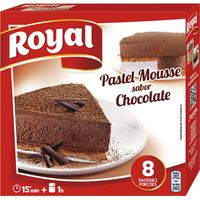 Pastel mousse sabor chocolate ROYAL, caja 225 g