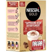 Café cappuccino descafeinado NESCAFÉ Gold, caja 10 sobres