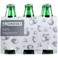 Sidra Extra EROSKI, pack 6x25 cl