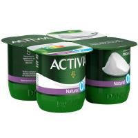 Activia 0% natural DANONE, pack 4x125 g