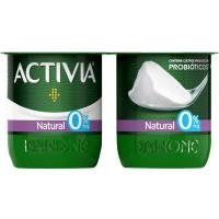 Activia 0% natural DANONE, pack 4x120 g