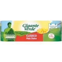 Maíz dulce GIGANTE VERDE, pack 3x140 g