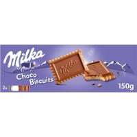 Chocobiscuit de chocolate con leche MILKA, caja 150 g
