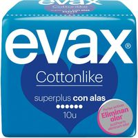 Compresa  super plus con alas EVAX Cottonlike, paquete 10 unid.