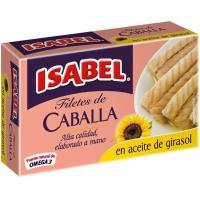 Filete de caballa en aceite vegetal ISABEL, lata 115 g