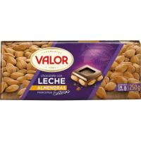 Chocolate con leche-almendras VALOR, tableta 250 g