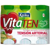 Yogur Vita para beber tropical KAIKU, pack 6x65 ml