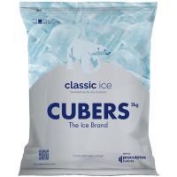 Cubitos de hielo macizo, bolsa 2 kg