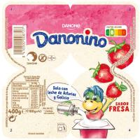 Danonino Maxi Petit de fresa DANONE, pack 4x100 g