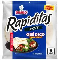 Tortita de harina Roll's BIMBO, paquete 240 g