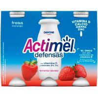 Yogur para beber de fresa ACTIMEL, pack 6x100 ml