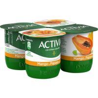 Activia con mango-papaya-soja DANONE, pack 4x120 g