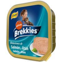 Alimento húmedo de salmón-atún para gato BREKKIES, tarrina 100 g