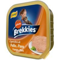 Alimento húmedo de pollo-pavo para gato BREKKIES, tarrina 100 g