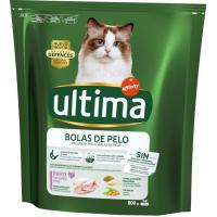 Control bolas de pelo para gato ULTIMA, paquete 800 g