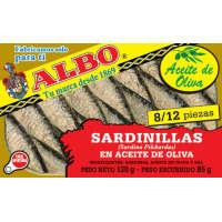 Sardinilla en aceite de oliva ALBO, lata 125 g