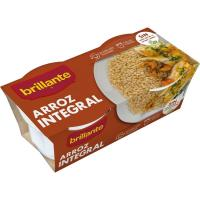 Vasitos de arroz integral BRILLANTE, pack 2x125 g