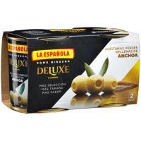 Aceitunas rellenas de anchoa LA ESPAÑOLA Deluxe, pack 2x85 g