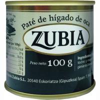 Paté de oca ZUBIA, lata 100 g