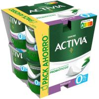 Activia 0% natural DANONE, pack 8x120 g