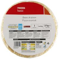 Bases de pizza EROSKI basic, pack 3x125 g
