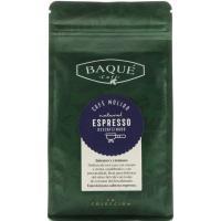 Café molido espresso descafeinado BAQUÉ, caja 250 g