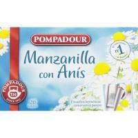 Manzanilla con anís POMPADOUR, caja 20 sobres