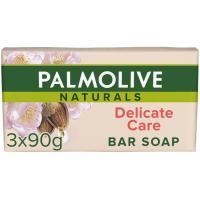 Jabón blanco PALMOLIVE, pastilla, pack 3 uds.