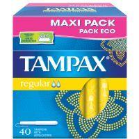 Tampón regular TAMPAX, caja 40 uds.