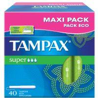 Tampón super TAMPAX, caja 40 unid.