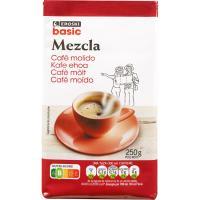 Café molido mezcla EROSKI basic, paquete 250 g