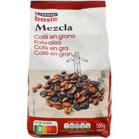 Café en grano mezcla EROSKI basic, paquete 500 g