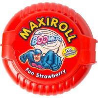 Maxi roll chicle fun de fresa BOOMER, paquete 56 g