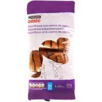 Napolitana de chocolate EROSKI basic, 8 unid.,  paquete 320 g