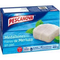 Medallones de merluza PESCANOVA, caja 400 g