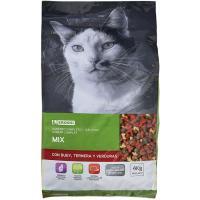 Mix de buey-ternera-verdura para gato EROSKI, saco 4  kg